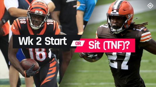 Bengals vs. Browns Fantasy Football Start 'Em Sit 'Em for Week 2 'Thursday Night Football'