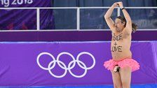 Streaker Crashes Olympic Speedskating With A Message For The World