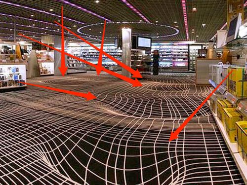This baffling carpet is an optical illusion that disorients everyone who walks on it