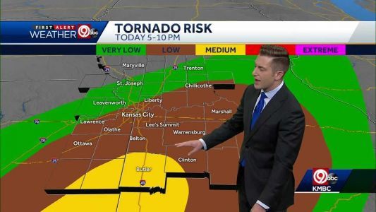 Sunny through midday, scattered thunderstorms possible Wednesday night