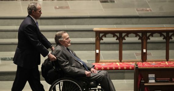 Spokesman: George HW Bush hospitalized with blood infection