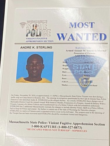 Suspect in shooting of state trooper considered armed and dangerous