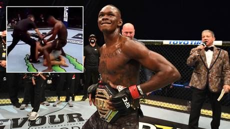 'The DISRESPECT!': Israel Adesanya 'air humps' stricken rival Paulo Costa after brutal TKO victory at UFC 253