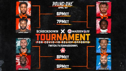 Madden tournament between NFL stars: Full bracket, players, rules & live stream for charity event