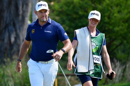 Golfer promotes good-luck girlfriend to full-time caddie