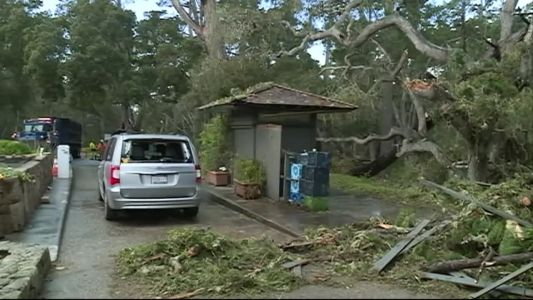 Storm clean up still under way around the Monterey Peninsula after this week's storm