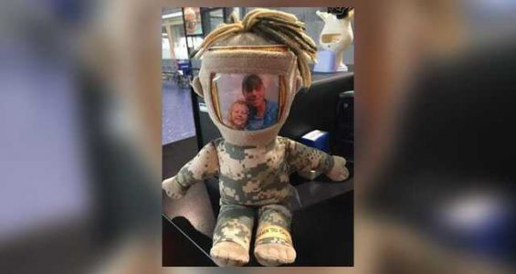Women looking for help in reuniting lost military doll with little girl