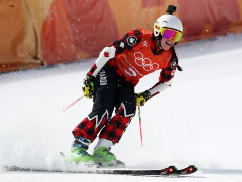 Marielle Thompson back on ski cross course in Pyeongchang, capping rapid knee injury rehab