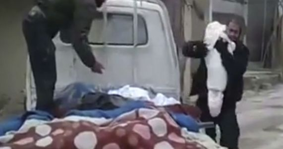 Syria: A father says last goodbye to child