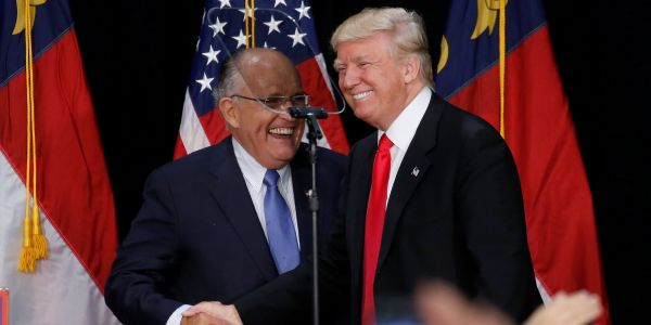8 days after his acquittal, Trump is openly admitting sending Giuliani to hunt for dirt on Joe Biden - reversing a key part of his impeachment defense