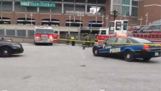 Man killed after portable bathroom fire outside NFL stadium