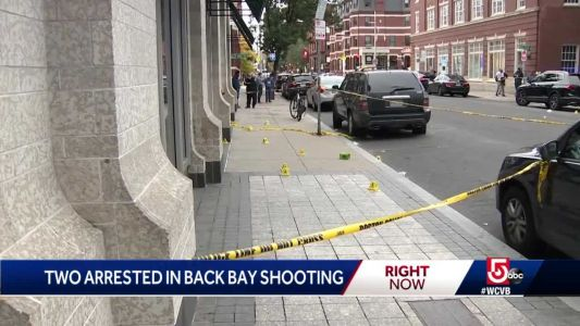 Two arrested after Back Bay shooting
