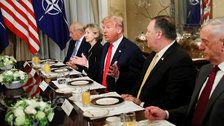 Trump blasts allies, says Germany is 'a captive of Russia' in testy start to NATO summit