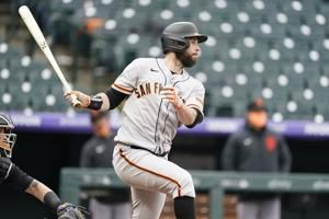 Brandon Belt records five first-inning RBI as Giants hang 10 early runs on Rockies at Coors Field