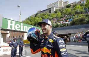 The Latest: Red Bull's Ricciardo wins Monaco Grand Prix