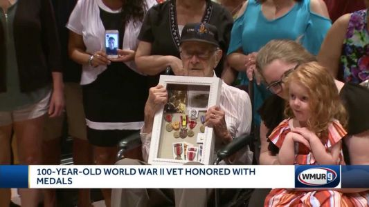 100-year-old WWII veteran honored