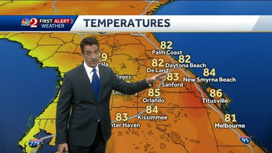 Breezy, cooler Friday with a few showers