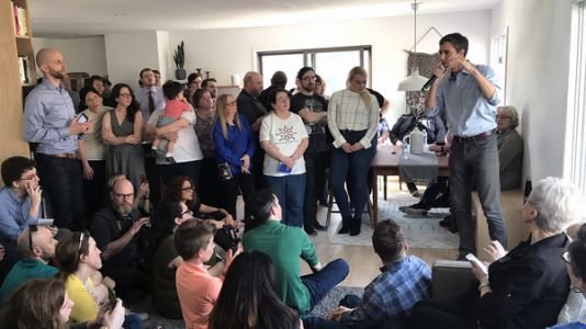 When Your Living Room Becomes A 2020 Campaign Stage, 'It's Pretty Surreal'