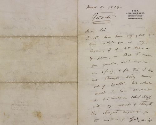 A private letter from Darwin detailing his doubts about God just sold at auction for $125,000 -here's what he wrote