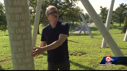 Large-scale art pieces going up around KC for special event