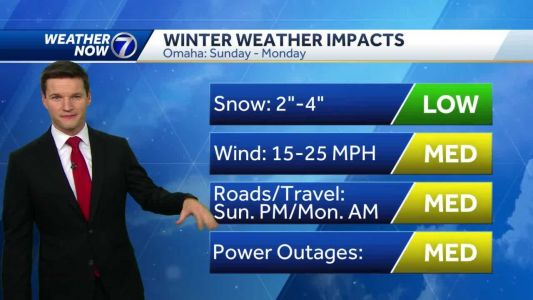 Chilly Saturday, snow impacts Sunday