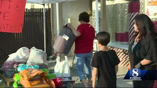 People on the Central Coast donating to wildfire victims