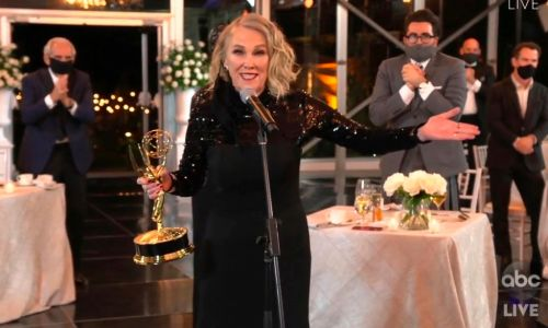 'Succession' wins best drama, while 'Schitt's Creek' sweeps the Emmy Awards