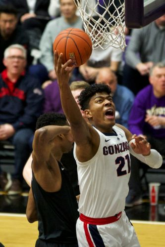 Rui Hachimura leads No. 5 Gonzaga men to 9th straight victory