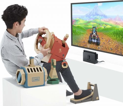 Build unique gaming accessories with the $60 Nintendo Labo Vehicle Kit