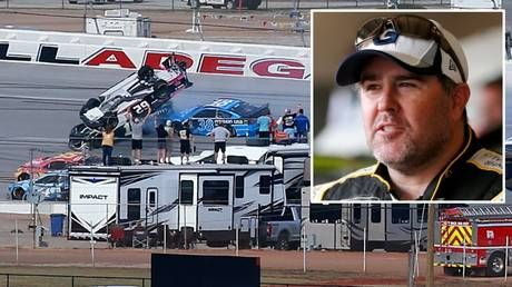'Mother, it's OK. It's just a flip!' NASCAR driver Brendan Gaughan gives ice-cool interview after Talladega horror smash