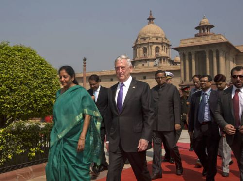 US defense chief in India for talks on jets, Afghanistan