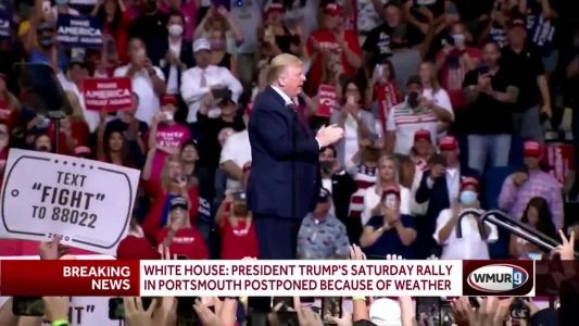 Trump rally in Portsmouth postponed because of approaching tropical storm