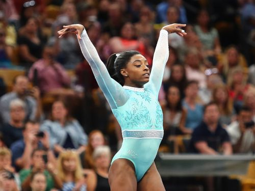 Simone Biles wore a special leotard to honor sexual assault survivors at the US gymnastics championships