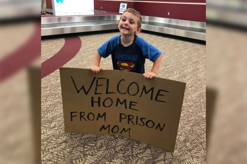 'Welcome home from prison, Mom' - Family's airport fun goes viral