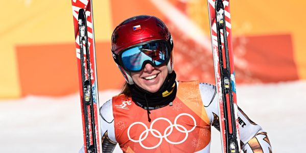 Czech snowboarder Ester Ledecka borrowed Mikaela Shiffrin's skis and pulled off an unbelievable upset to win Super-G gold by 0.01 second