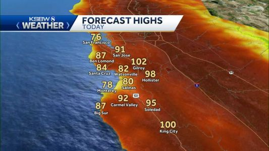 Mild to Warm at the Coast - Hot Inland