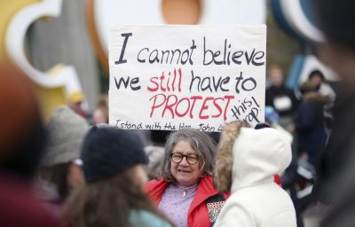 The mixed messages of the Women's March against Trump
