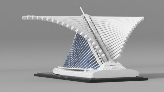 Hungarian Brickmaster Vida Andras has created a LEGO Calatrava that he hopes will be added to the LEGO Architecture series