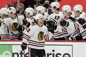 Subban makes 29 saves as Blackhawks beat Red Wings 4-0