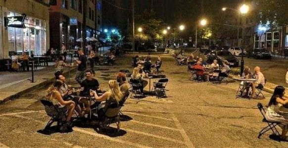 Covington to extend streetside outdoor dining past New Year's Day