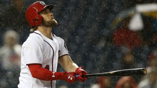 WATCH: Bryce Harper smacks a broken bat home run vs. Mets