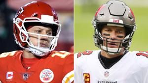 It's Tom Brady versus Patrick Mahomes in the Super Bowl