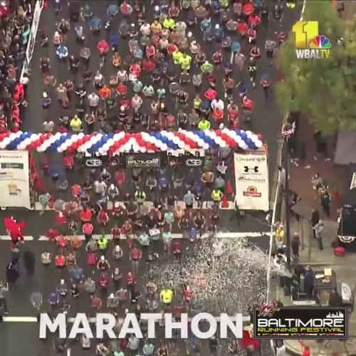 And they're off! SkyTeam 11 shows start of 2018 Baltimore Marathon