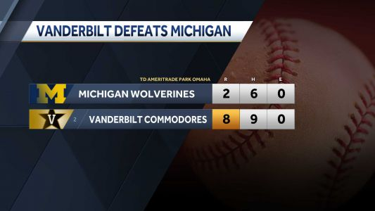 Vanderbilt defeats Michigan 8-2 to claim second College World Series championship