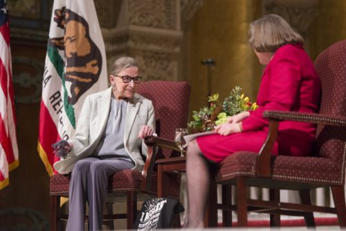 When U.S. Supreme Court Justice Ruth Bader Ginsburg visited Stanford