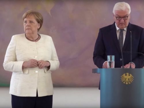 Video shows German Chancellor Angela Merkel shaking uncontrollably in public for the second time in a few days