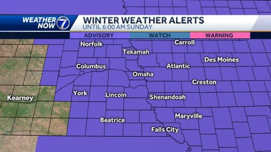Winter Weather Advisory in effect until Sunday morning, snow becoming widespread this evening