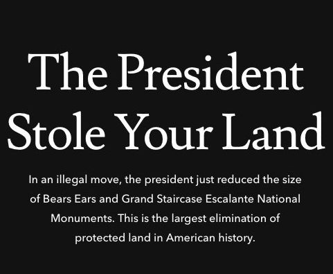 The Latest: Patagonia sues over Trump's monuments order
