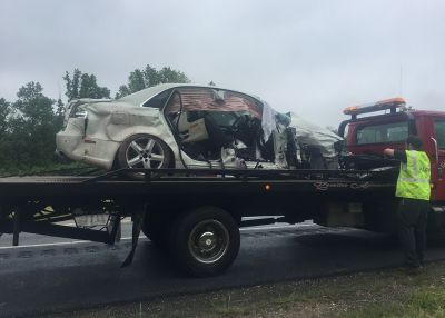 Vehicles collide head-on on Route 222