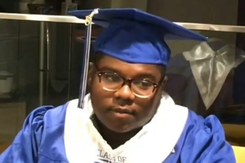 This graduate had perfect attendance since pre-K